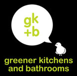 Green Kitchen and Bathroom